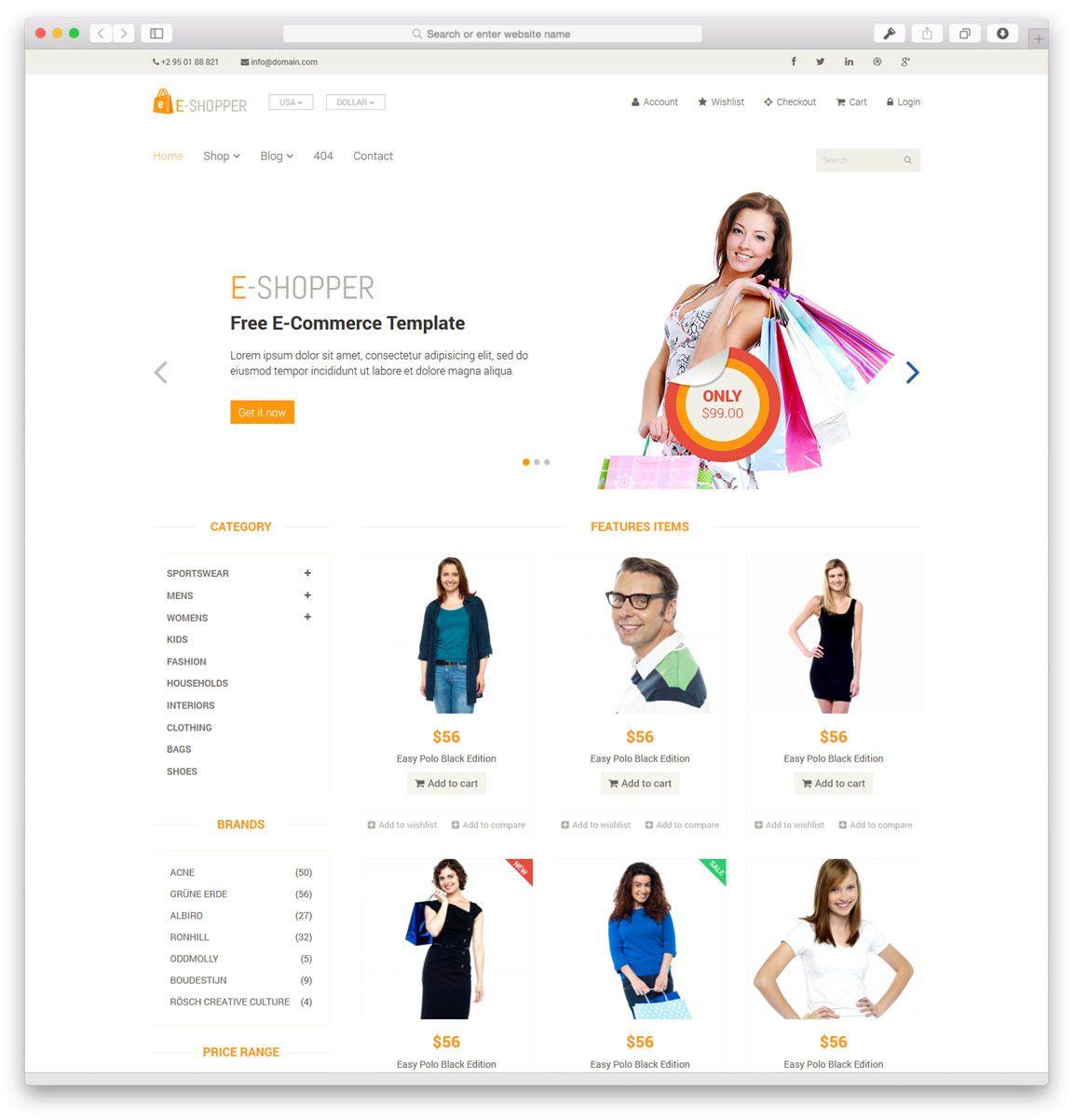 40 Best Free Responsive HTML5 & CSS3 Website Templates