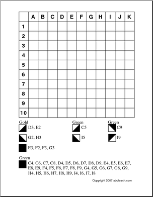 FREE Printable ~ Grid Coloring Pot of Gold (medium