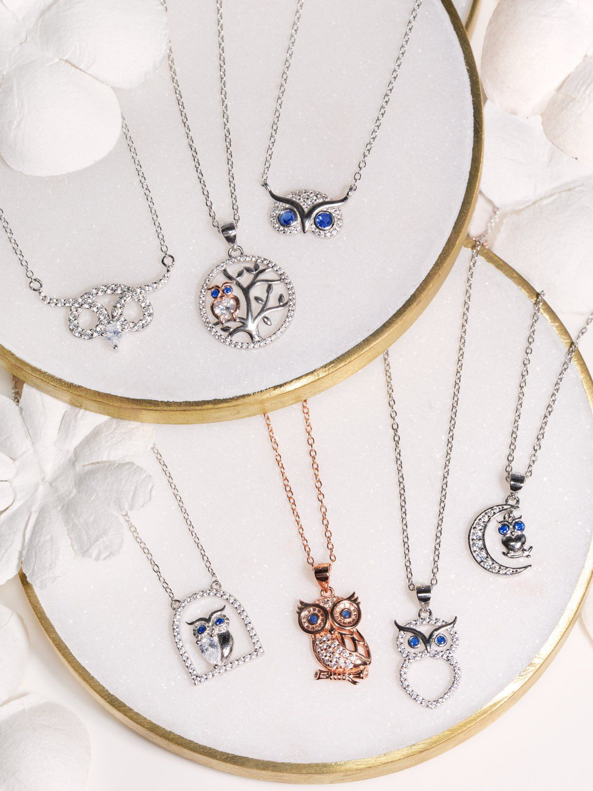 Novelty Necklace KnSam Women Alloy Pendant Necklaces Crystal Heart Blue