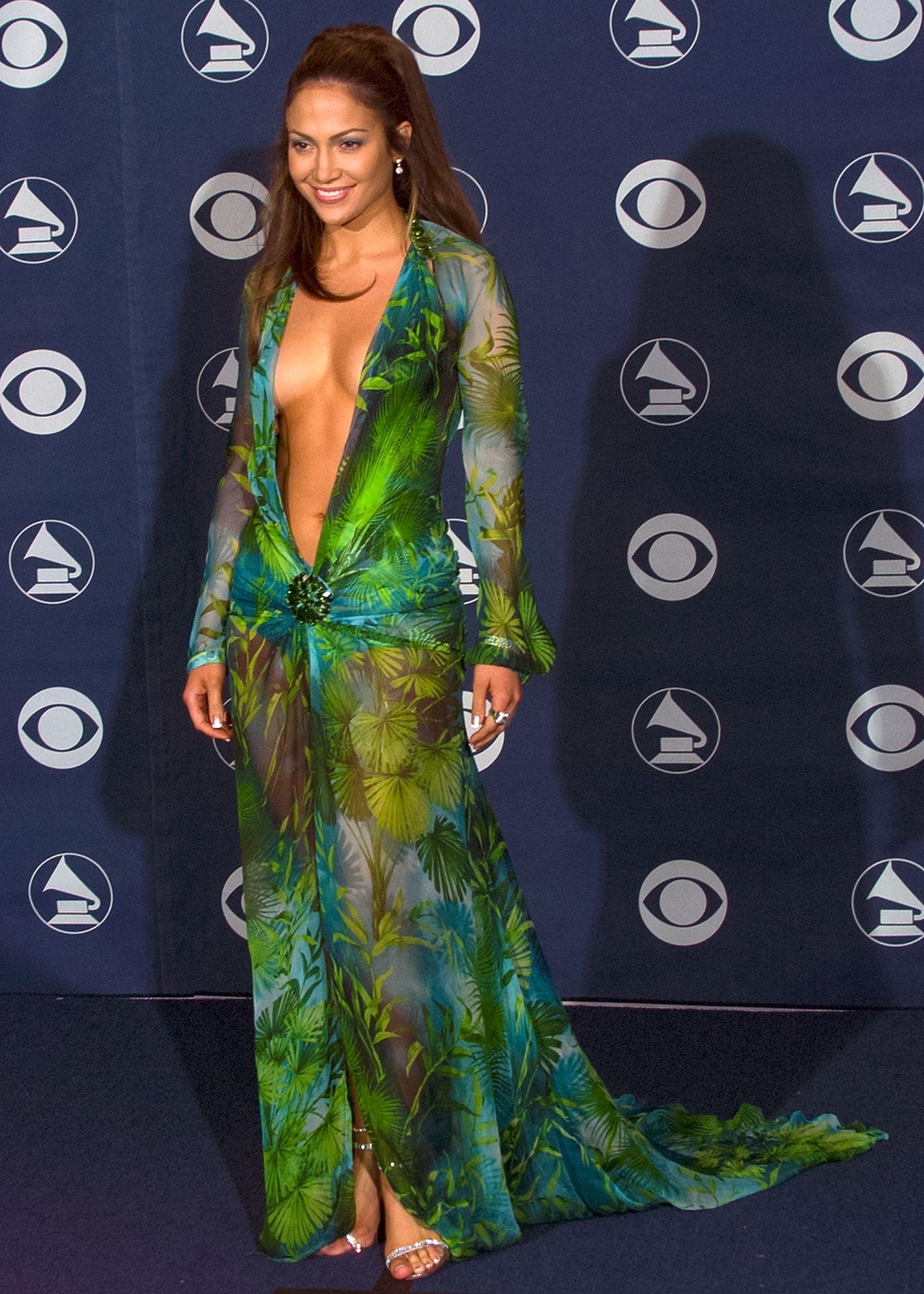 Versace Just Recreated Jennifer Lopez S Iconic Grammys Dress Grammy Dresses Jennifer Lopez Green Dress Iconic Dresses [ 2240 x 1600 Pixel ]