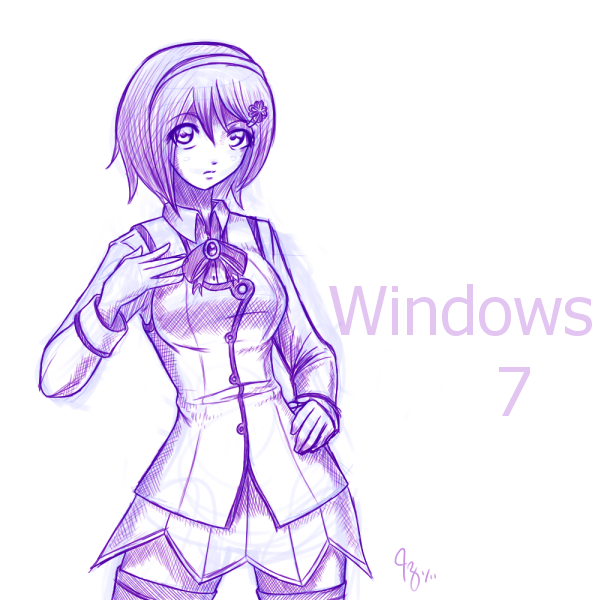 Sketch Windows 7 Os Tan By Claymore32 On Deviantart Sketches
