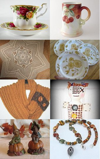 Thinking of Thanksgiving with Teamvintageusa!  by Dena on Etsy--Pinned with TreasuryPin.com