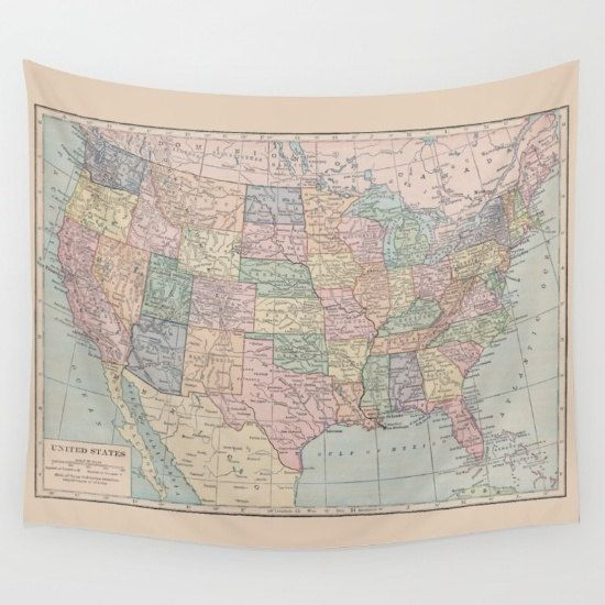 United States Map Tapestry Wall Hanging Us Map Dorm Beautiful Map - Atlas-us-map