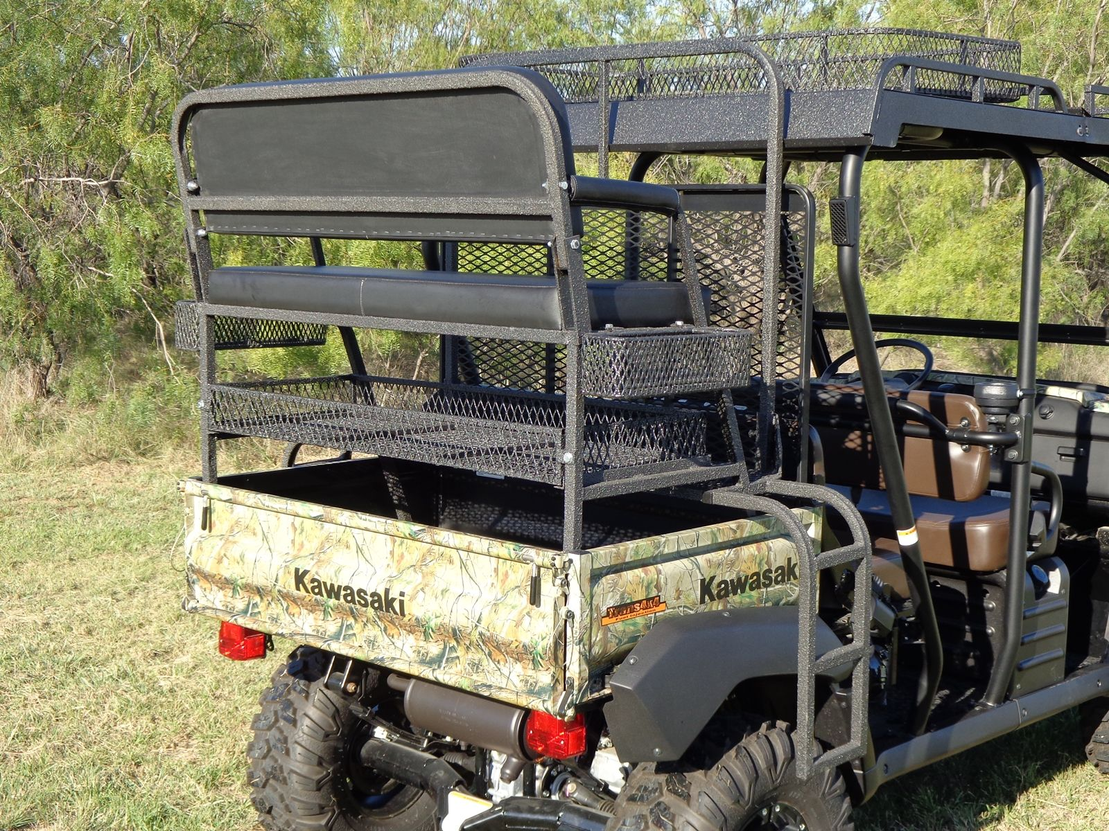 4x4 UTV Accessories - Kawasaki Mule Rear High/Hunting Seat ...