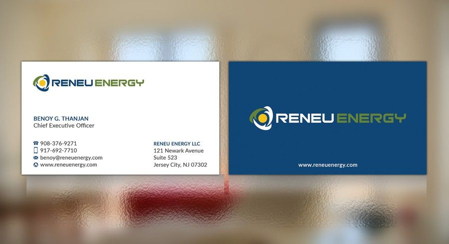 Creating a business card for renewable energy consulting firm that creating a business card for renewable energy consulting firm that focuses on reheart