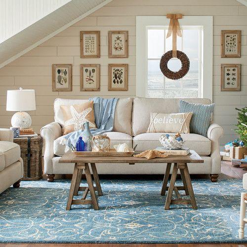 Louisa Azure Ivory Rug Birchlane Beach House Living Room Coastal Living Rooms Coastal Living Room
