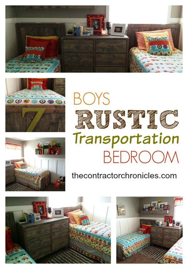 Boys Rustic Transportation Bedroom