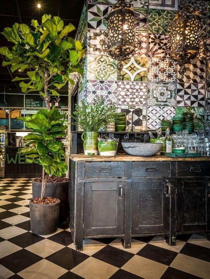 54 Classy Bohemian Style Kitchen Design Ideas - #Bohemian #Classy #Design #ideas #Kitchen #style #kitchendesignideas