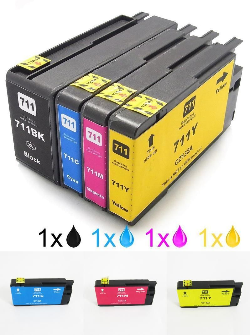 Visit to Buy 1Set For HP 711 Ink Cartridges HP711 ...