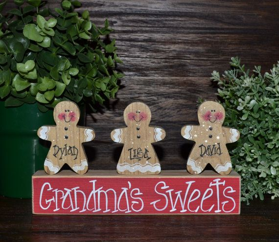 Gingerbread Christmas Decor Personalized by BlocksOfLove1 on Etsy, $8.99