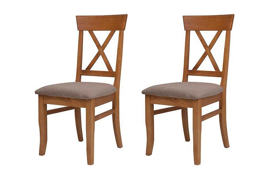 Cadeira Tea (kit com 2) - Nozes | Cadeira Estofada | Cadeiras
