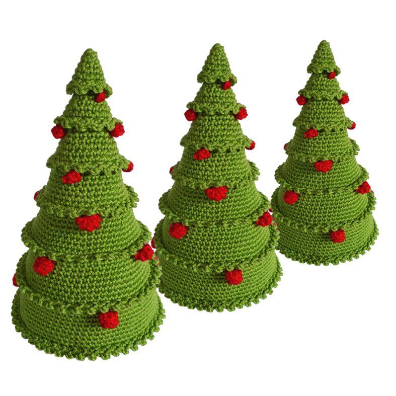 DetalleLogia Arboles de Navidad - DIY con telas, cojines, botones - cosas de navidad