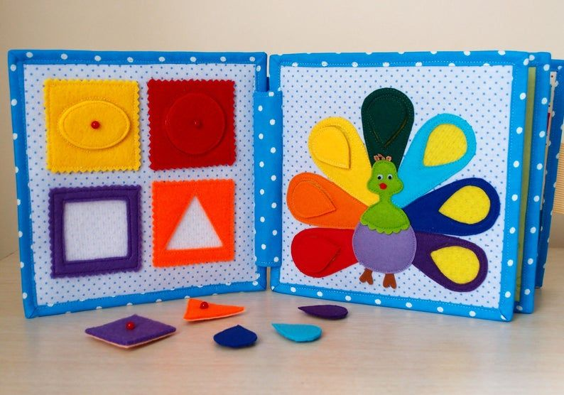 Toddler Quiet Book, Fabric Felt Busy Book, Soft Cl