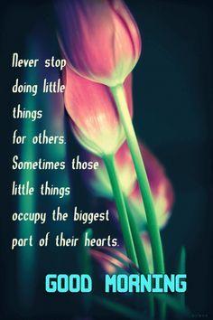 Good morning never stop doing little things for others flower good morning never stop doing little things for others flower morning good morning good morning greeting good morning quote m4hsunfo