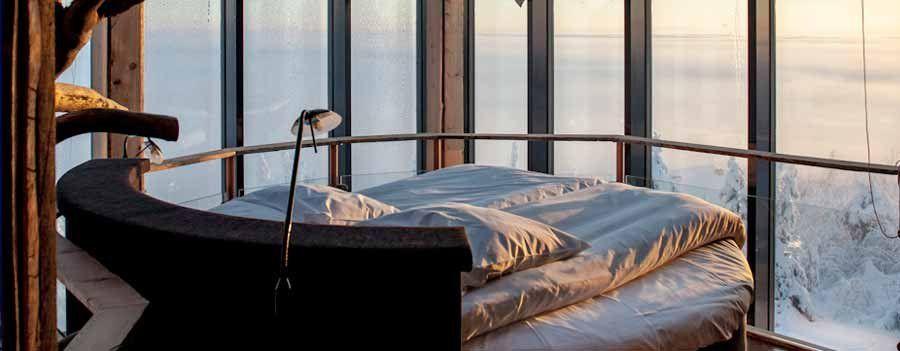 Hotel Iso Syöte Eagle View Suite bedroom Hotelli Iso Syöte Kotkanpesä sviitti makuuhuone
