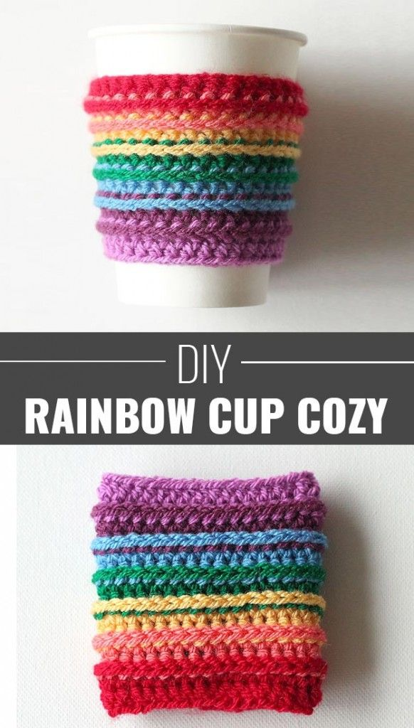 75 brilliant crafts to make and sell crochet cup cozy for Cute diys to sell