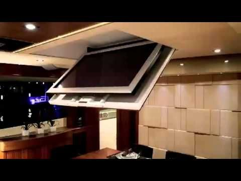 Motorized Flip Down Flat Screen Tv Ceiling Mount You