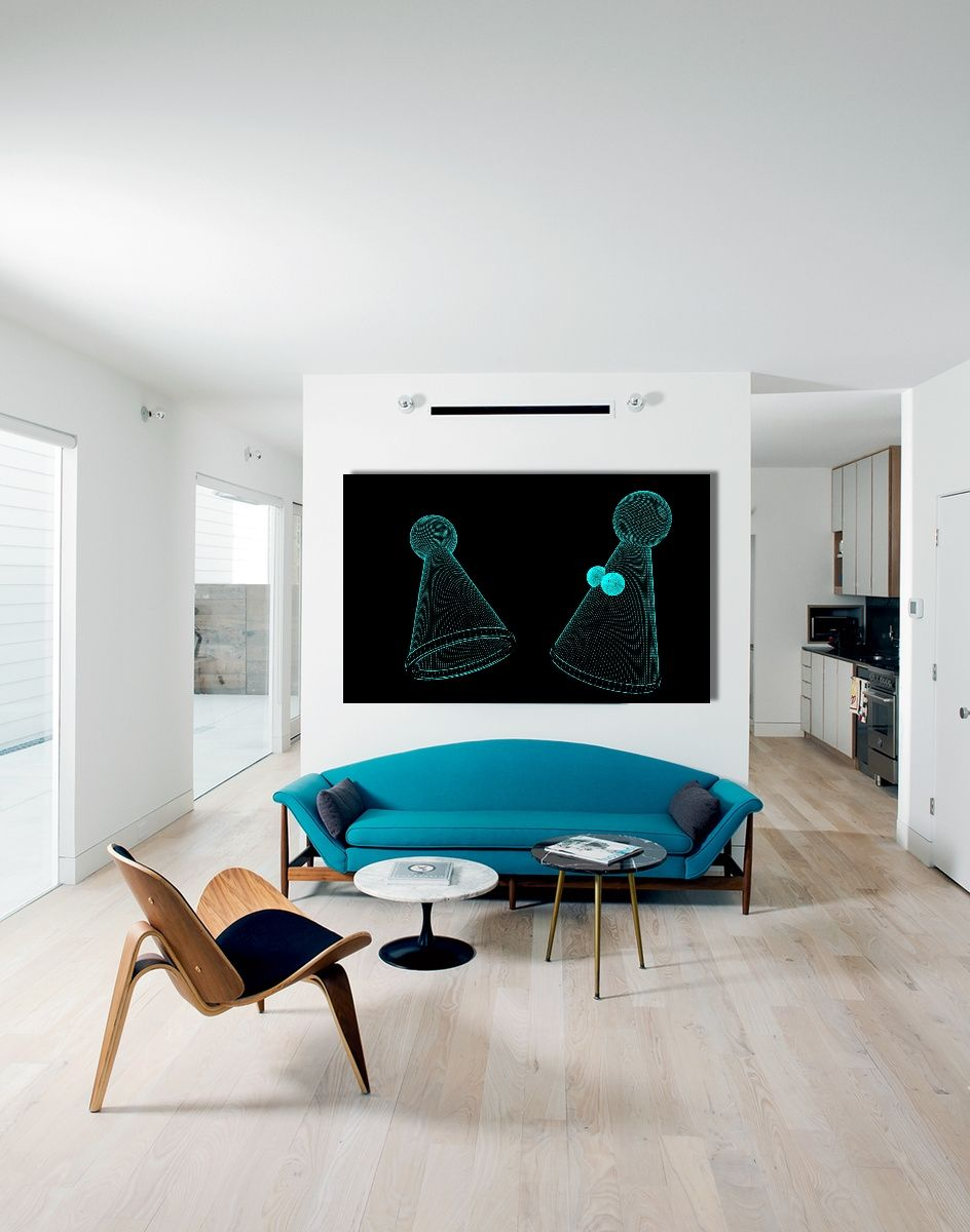Dancing in the dark - clients beautiful living room #art #ludolife ...