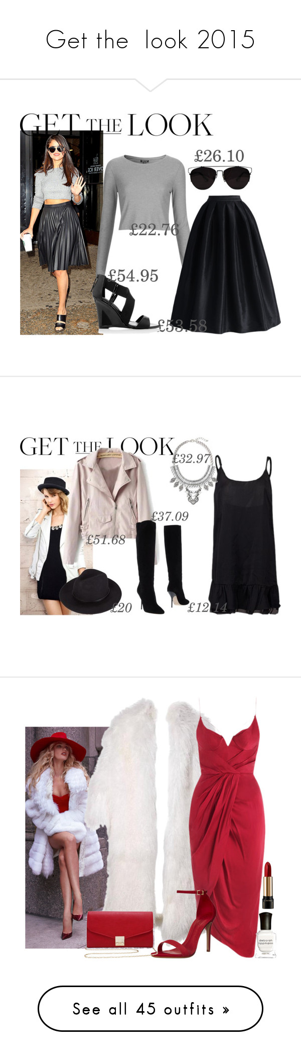 """Get the  look 2015"" by fashion-nova ❤ liked on Polyvore featuring Topshop, Chicwish, White House Black Market, Retrò, Jimmy Choo, Leith, Zimmermann, Schutz, M&Co and Deborah Lippmann"