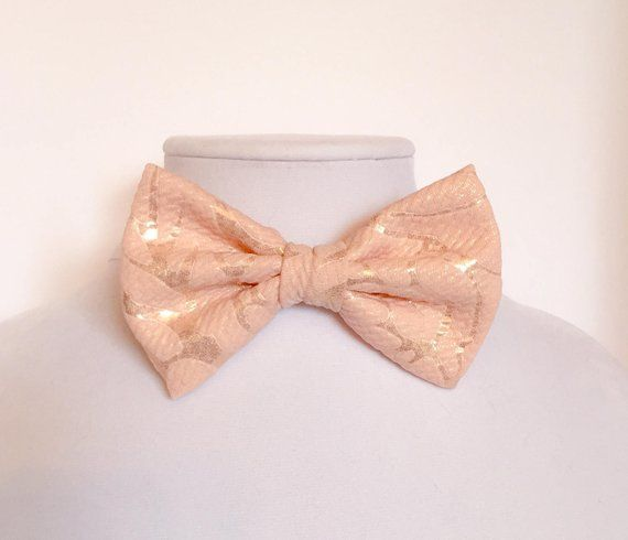 83a70bc8f0e2 Blush Bow Tie, Pink Gold Wedding, Light Pink Bow Tie, Blush Gold Bow Tie,  Blush Gold Wedding, Blush