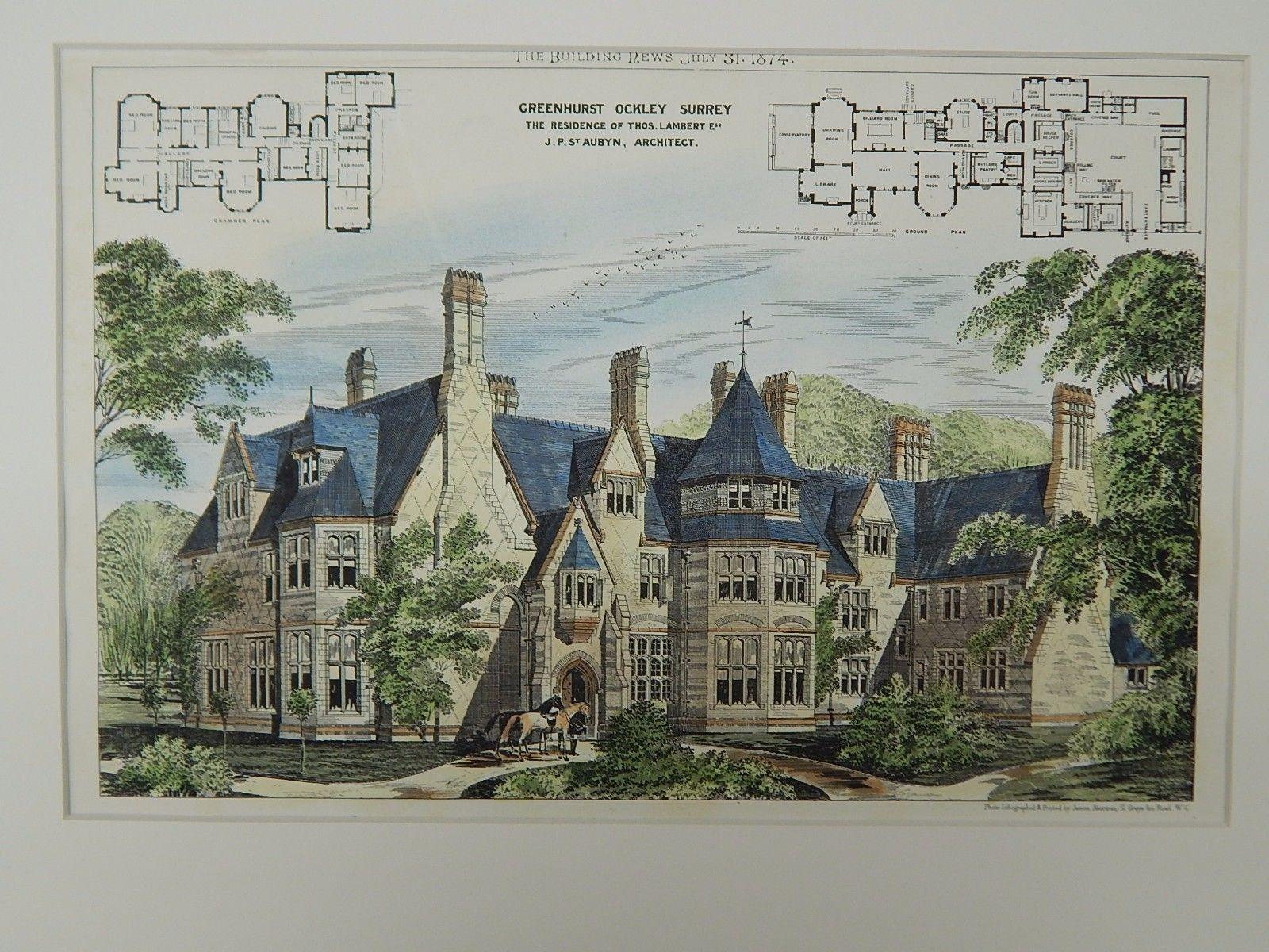 Greenhurst residence of thos lambert ockley surrey uk