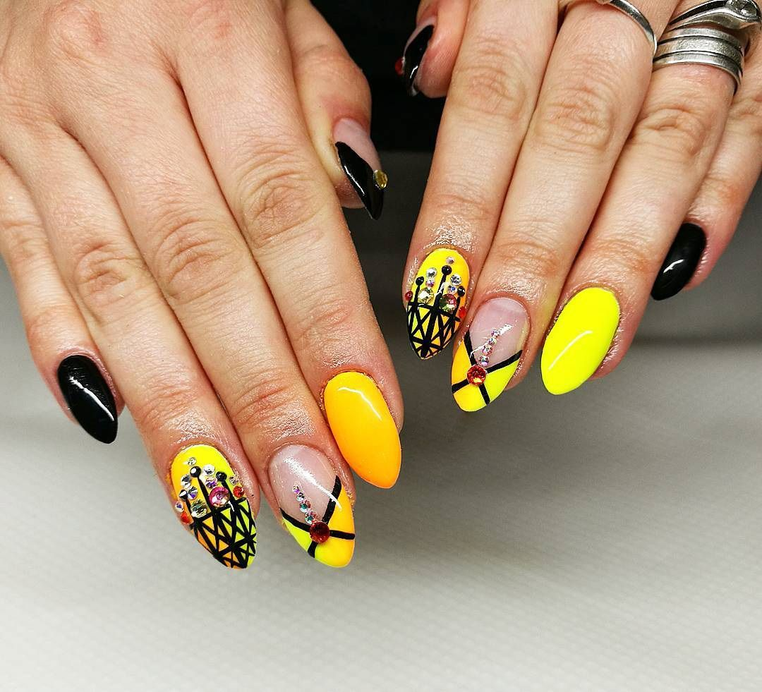 Yellow Nails Summer Nail Art Designs In Yellow Color Summer