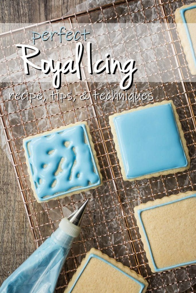 Royal Icing for Decorating: easy recipe, dries hard -Baking a Moment