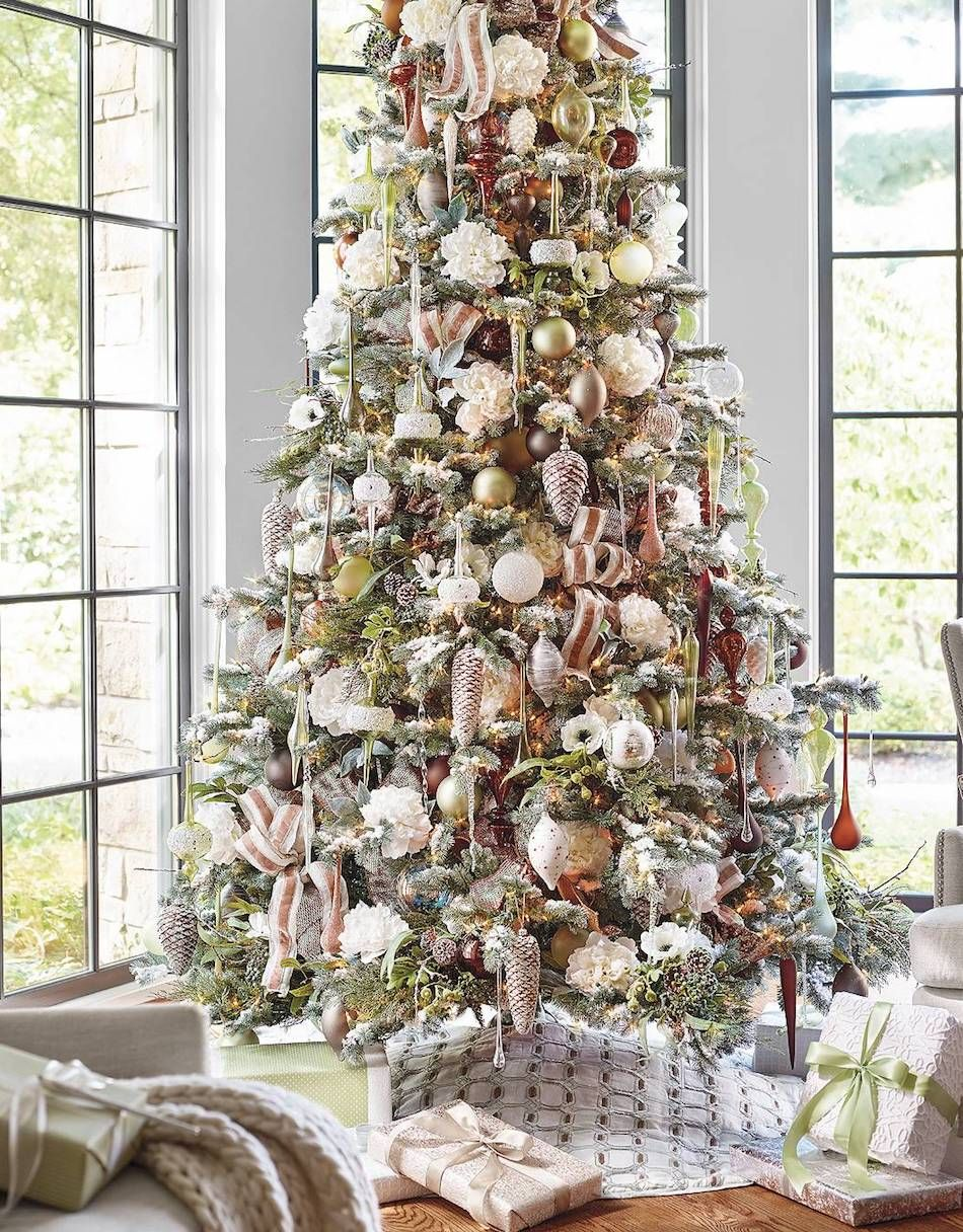 Frontgate Natural Elements 60 Pc Ornament Collection Frontgate Christmas Trees Holiday Decor Farmhouse Christmas Ornaments