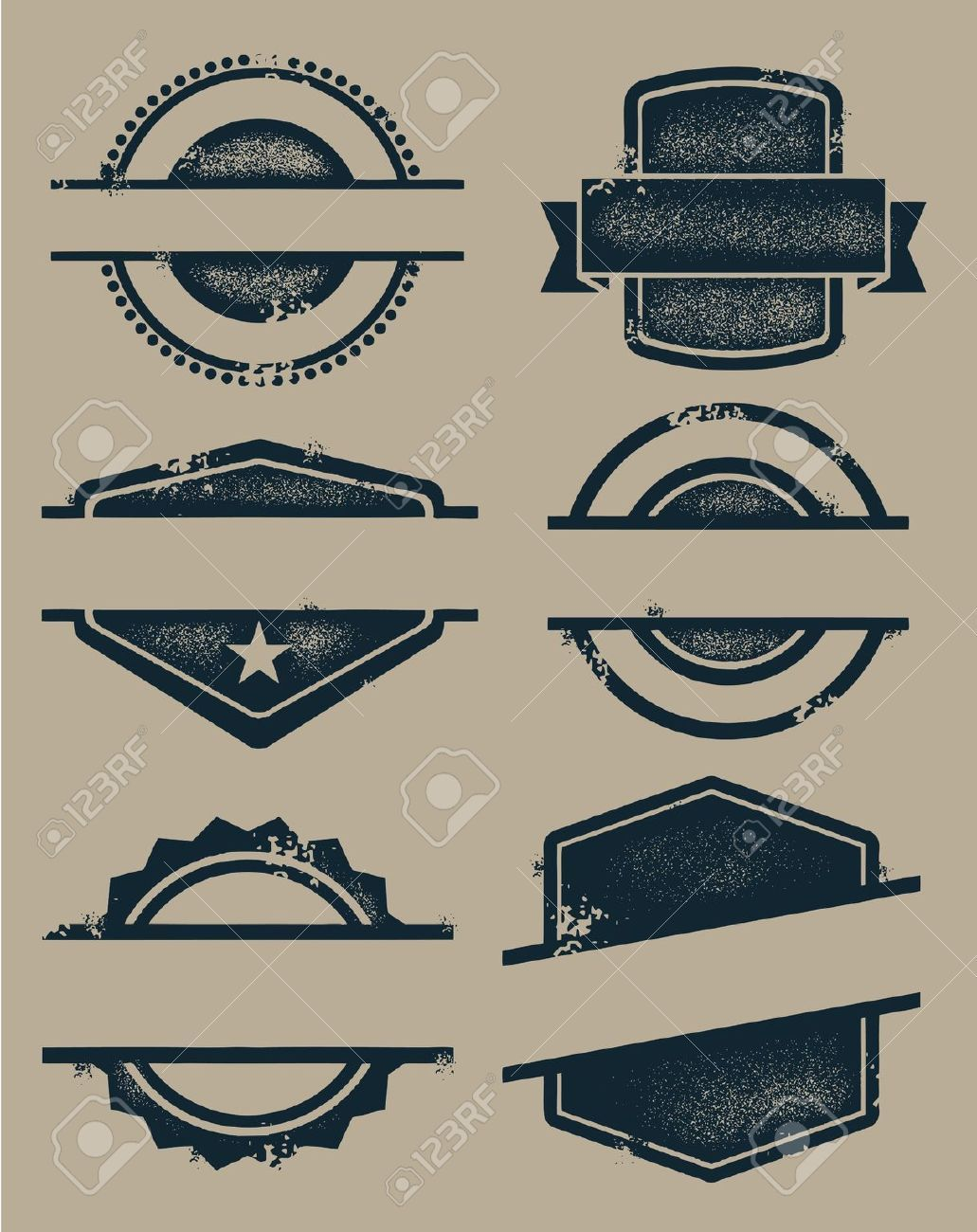 Blank Vintage Seals And Stamps Royalty Free Cliparts Vectors Stock Illustration