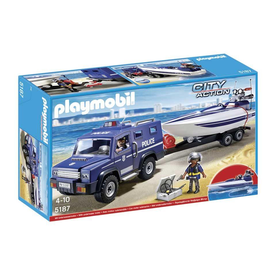 Playmobil City Action Google Zoeken Police Truck Speed Boats Playmobil