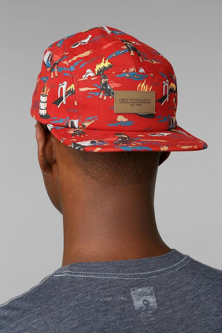 e8e51c374ec03 OBEY City Hunting 5-Panel Hat  urbanoutfitters
