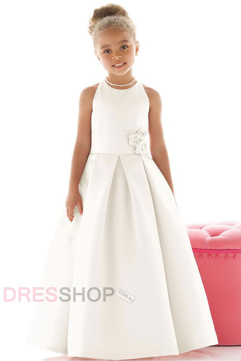 Satin floor length natural sleeveless cute flower girl dresses 30 satin floor length natural sleeveless cute flower girl dresses 30 70 izmirmasajfo