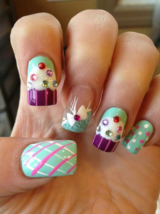 Birthday Nails Art