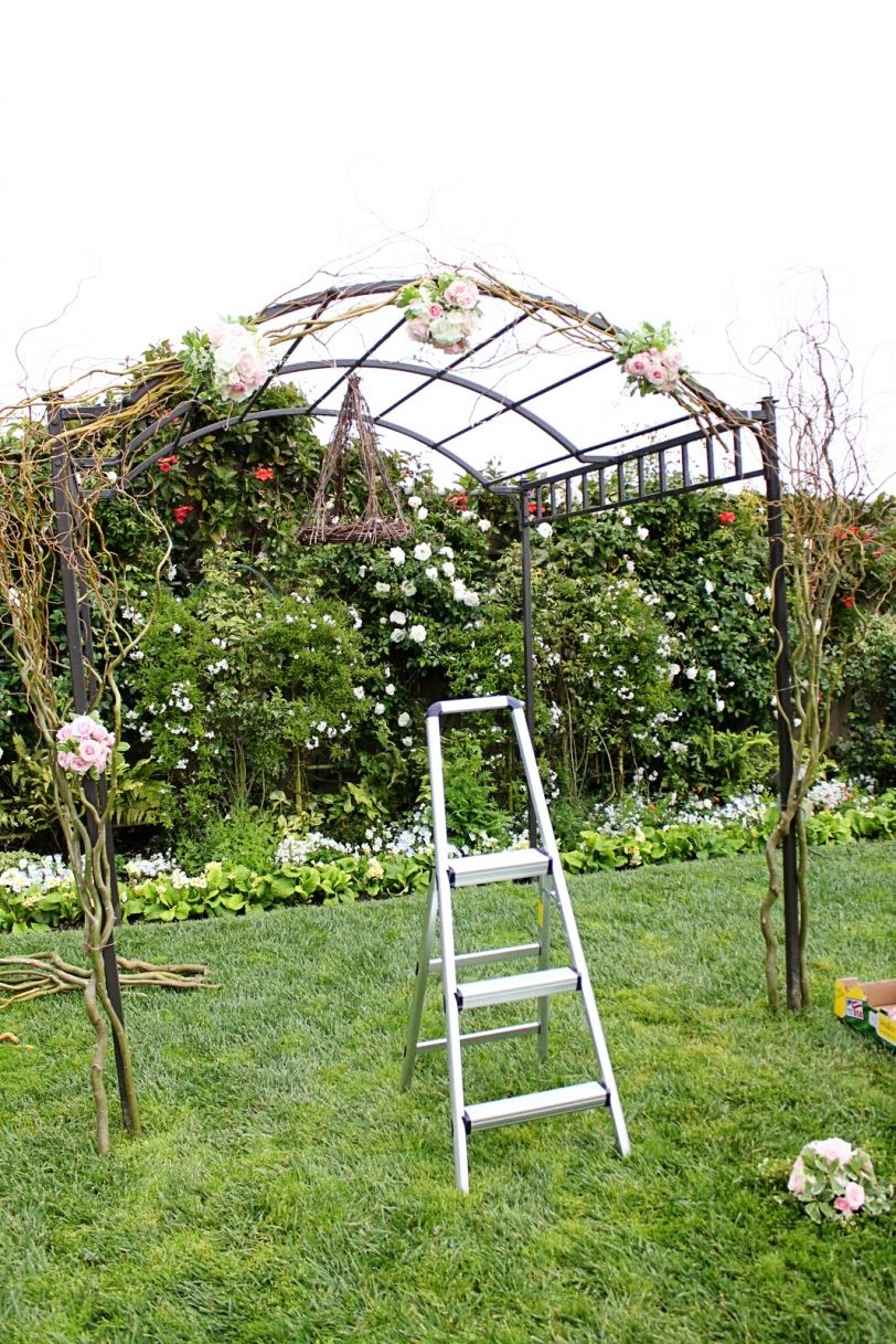 How to decorate an arbor diy arch wedding curly willow outdoor