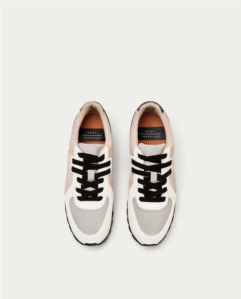 Mujer Zapatos Ver Zara Combinado Todo Plataforma Piel Deportivo D29HIE