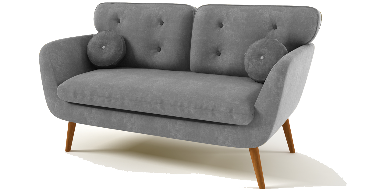 The Rea Sofa features a classic mid century design updated with a