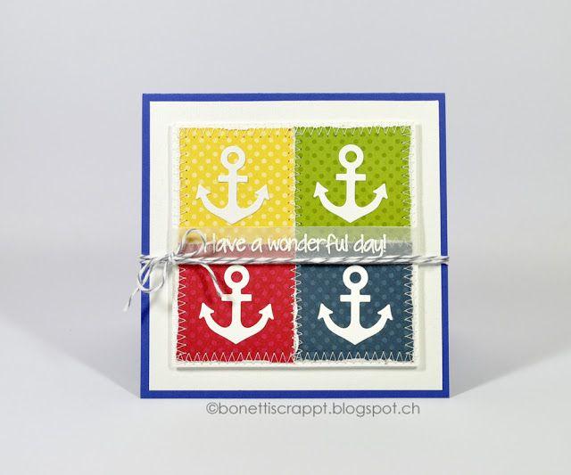 Karte mit Anker Stanze Card with Anchor Die