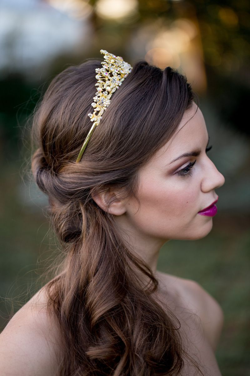 bridal crowns and tiaras - wedding hair and makeup by