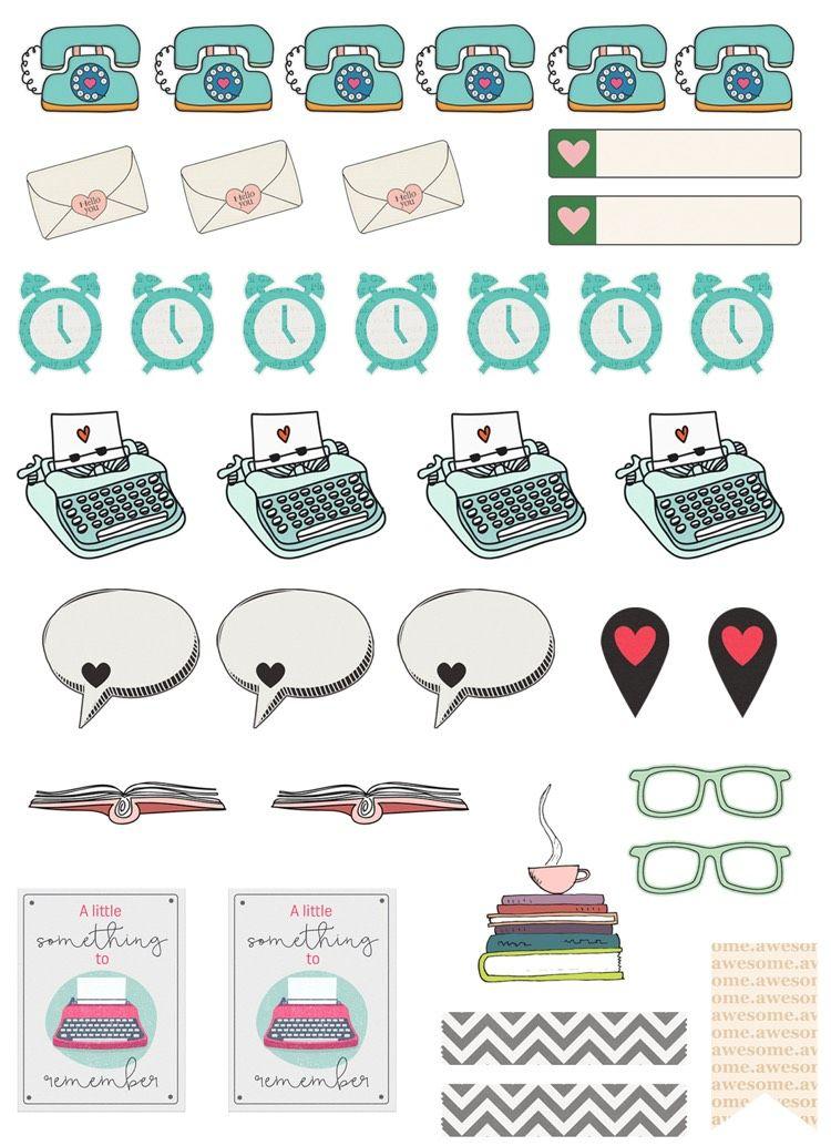 vintage b robedarf und gegenst nde gestaltung filofax printable planner stickers planner. Black Bedroom Furniture Sets. Home Design Ideas