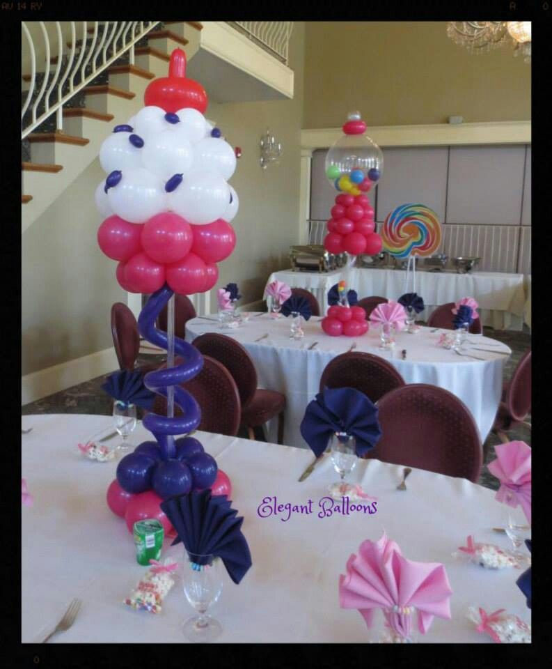 Candyland candy crush balloon centerpieces