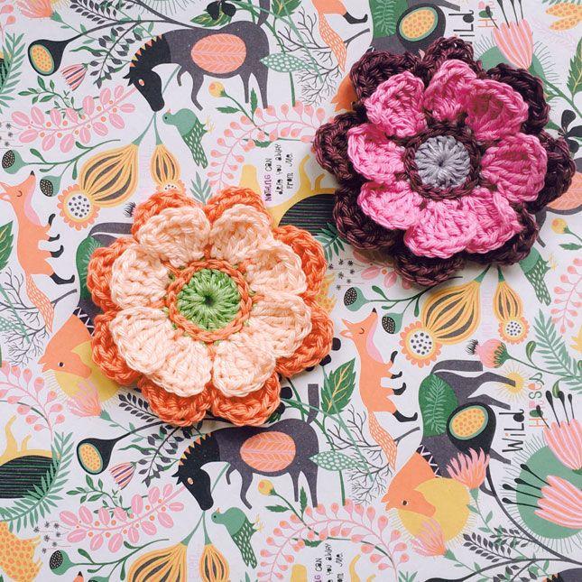Free Pattern Crocheted Flowers