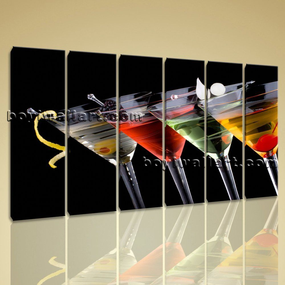 Large popular cocktails other modern on canvas print wall art
