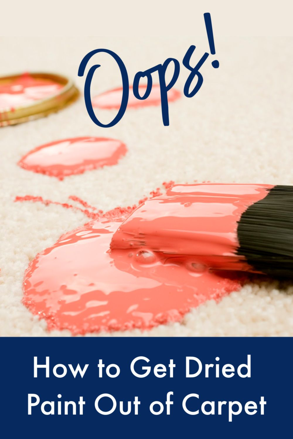How to get dried paint out of carpet and other crazy