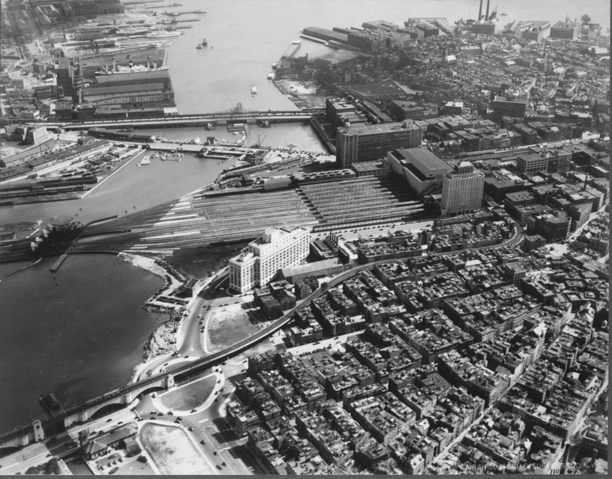 Boston 1930 with images boston history aerial boston