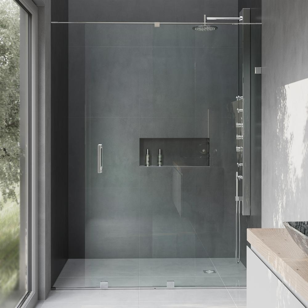 Vigo Ryland 62 To 64 In X 72 75 In Frameless Sliding Shower Door