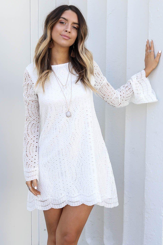 White Amazing lace dresses new photo