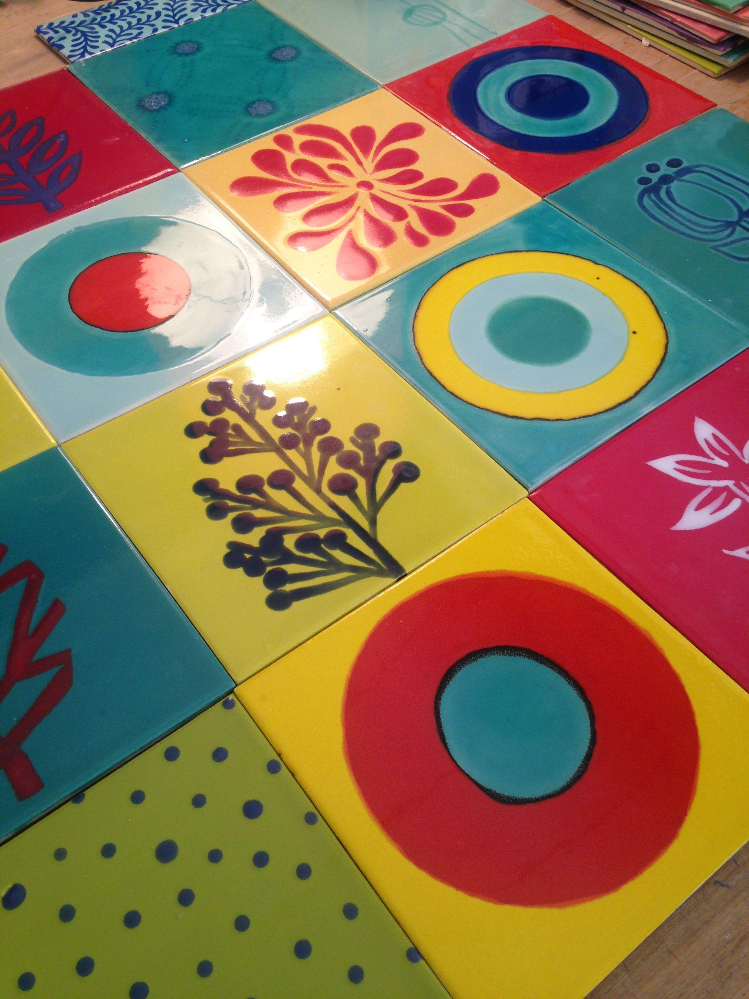 handmade tiles!