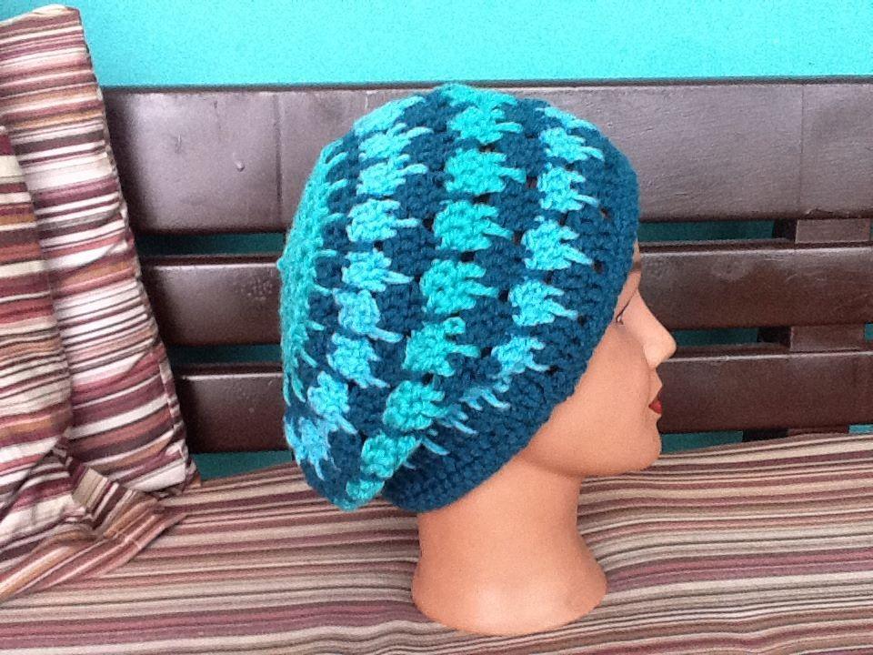 sombrero caido a crochet