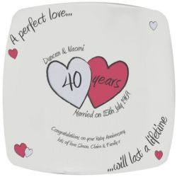 19 19 A Perfect Love Ruby Anniversary Plate Anniversary Gifts