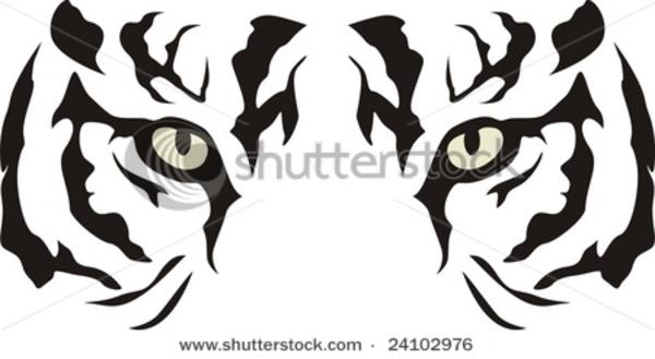 13187731761419384965stock Vector Tiger Eyes 24102976 Hi Png 600 329 Tiger Stencil Tattoo Stencils Tiger Art